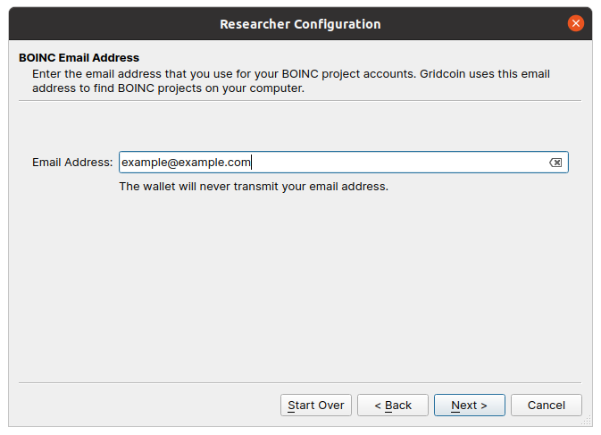 image showing a textbox asking for your BOINC email